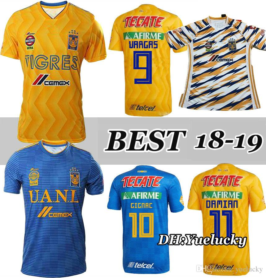 2019 18 19 Mexico Club Tigres UANL Yellow Home 3RD Soccer Jersey 6 Stars  GIGNAC Vargas H. Ayala SOSA 2018 2019 Away Blue Football Shirt WOMAN From  Yuelucky c6214319d