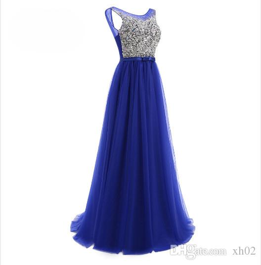 0e9fffce9556 2019 Cheap Long Prom Dresses Sequins A Line Evening Dress 2018 Floor Length  Tulle Party Gowns Long Formal Prom Dresses Prom Dresses For 11 Year Olds  Prom ...