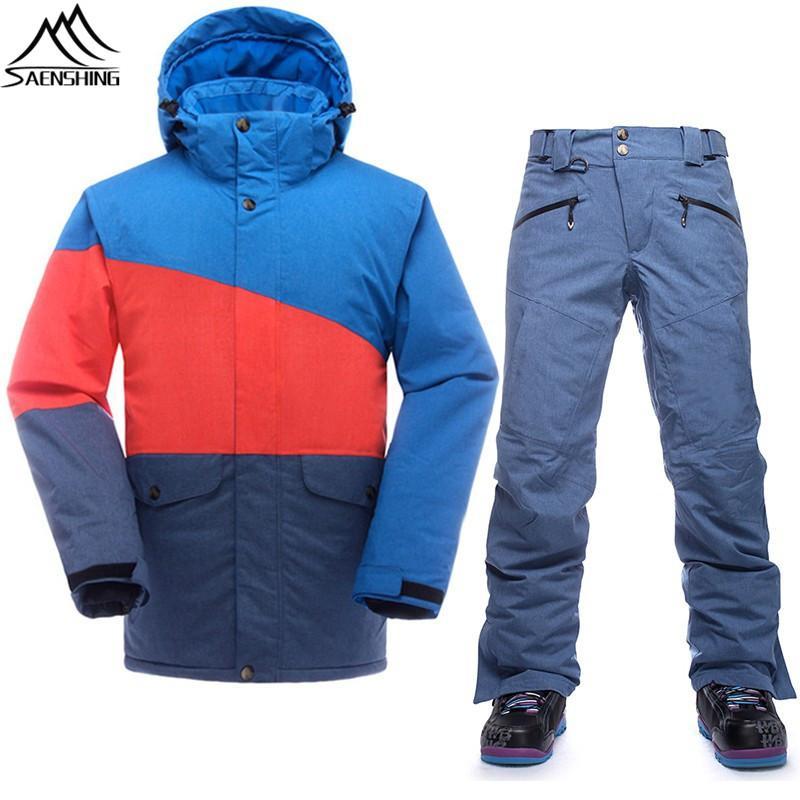 Saenshing Winter Ski Jacket Men Snowboard Coats Waterproof Thermal Snowboard Jackets Outdoor Ski Skiing And Snowboarding Wear Selected Material Sports & Entertainment Skiing & Snowboarding
