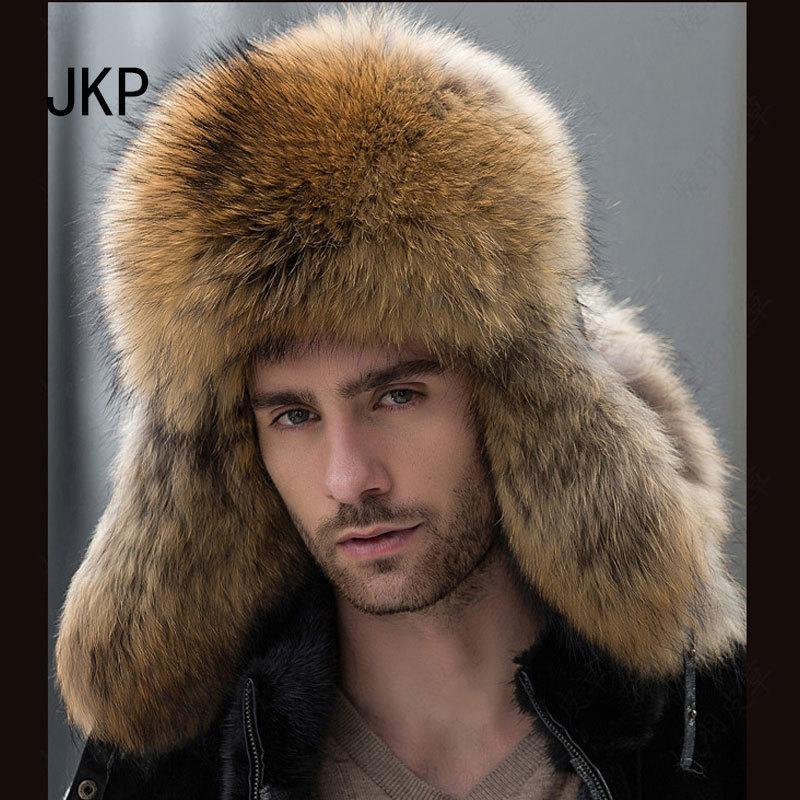 be9f9f964ae71e Star Fur 2018 Genuine Silver Fox Fur Hats Men Real Raccoon Fur Lei Feng Cap  For Russian Men Bomber Hats With Leather Tops 1002 D19011503 Knitted Hat  Cap Hat ...