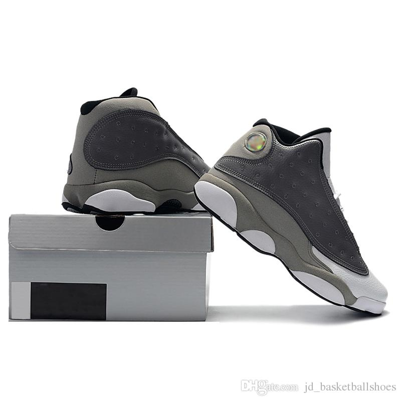 9c169b0d72a9b3 2019 With Box Jumpman 13 Atmosphere Grey Graffiti Mens Basketball Shoes  Sneakers 2019 New Release 13s Grey White Sport Trainers Designer 40 47 From  ...