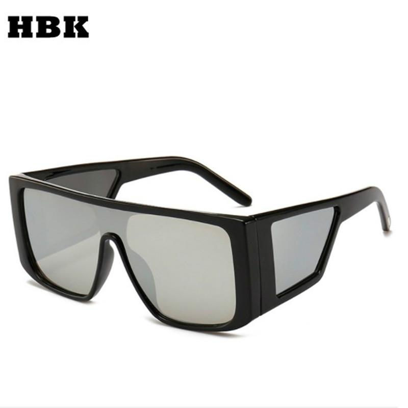 1a5a25c7e6f HBK Oversized Square Sunglasses Men 2019 Women New Luxury Brand Vintage Sun Glasses  Full Frame Cool Black Shield Eyewear UV400 Online Eyeglasses Discount ...