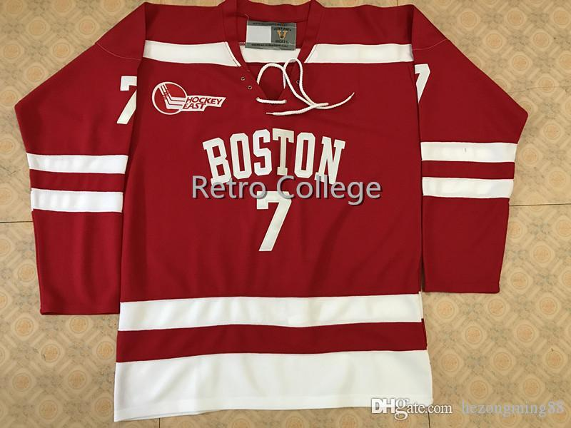buy online 8fdda 3721c Boston University #7 Charlie McAvoy Red Ice Hockey Jersey Mens Embroidery  Stitched Customize any number and name Jerseys