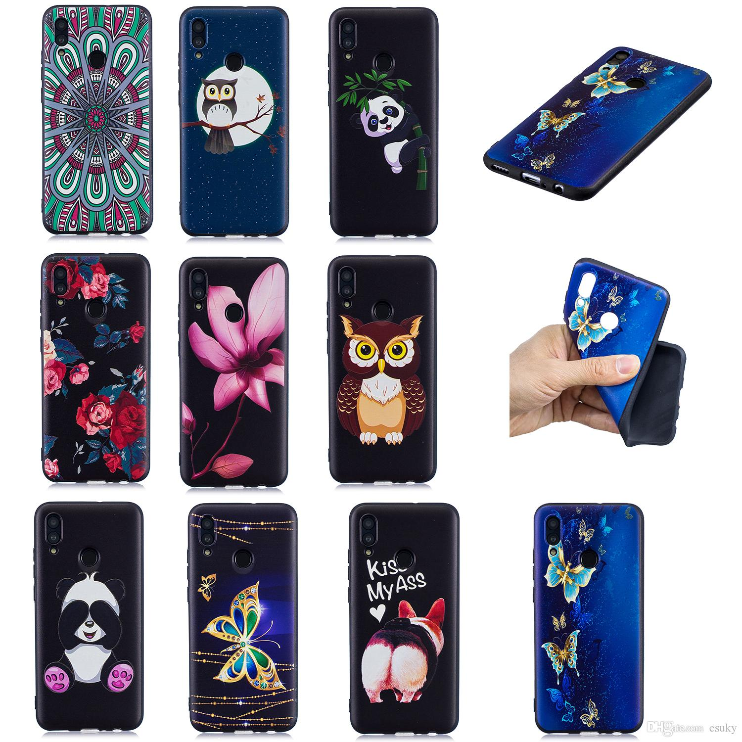 Soft TPU Back Phone Case For Huawei P Smart P30 P20 P10 P9 Lite P8 Lite Slim Fit Flower butterfly owl panda Case for Huawei Y7 Y6 Y5 Cover