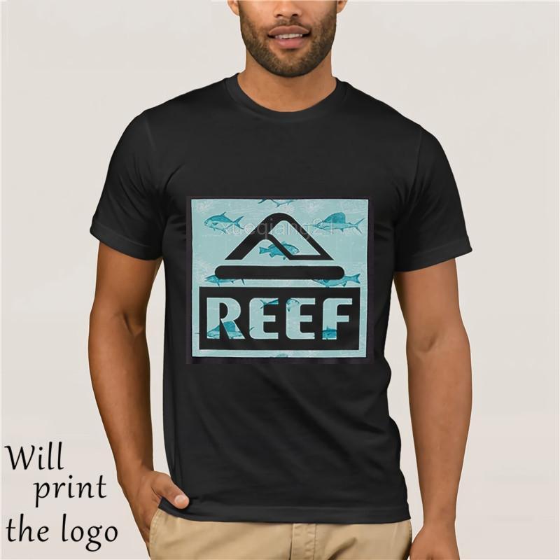 439fbd4fc Logotipo de Reef Camiseta para hombre Camiseta de manga corta Camiseta con  estampado divertido Tops Camiseta suelta Negro T Blusas para hombre ...