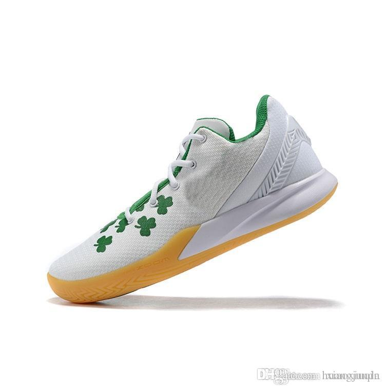 half off 4b051 f1736 Mens kyrie flytrap 2 basketball shoe White Gum Green Floral Wolf Grey youth  kids kyries irving low cut sneakers tennis with box size 7 12