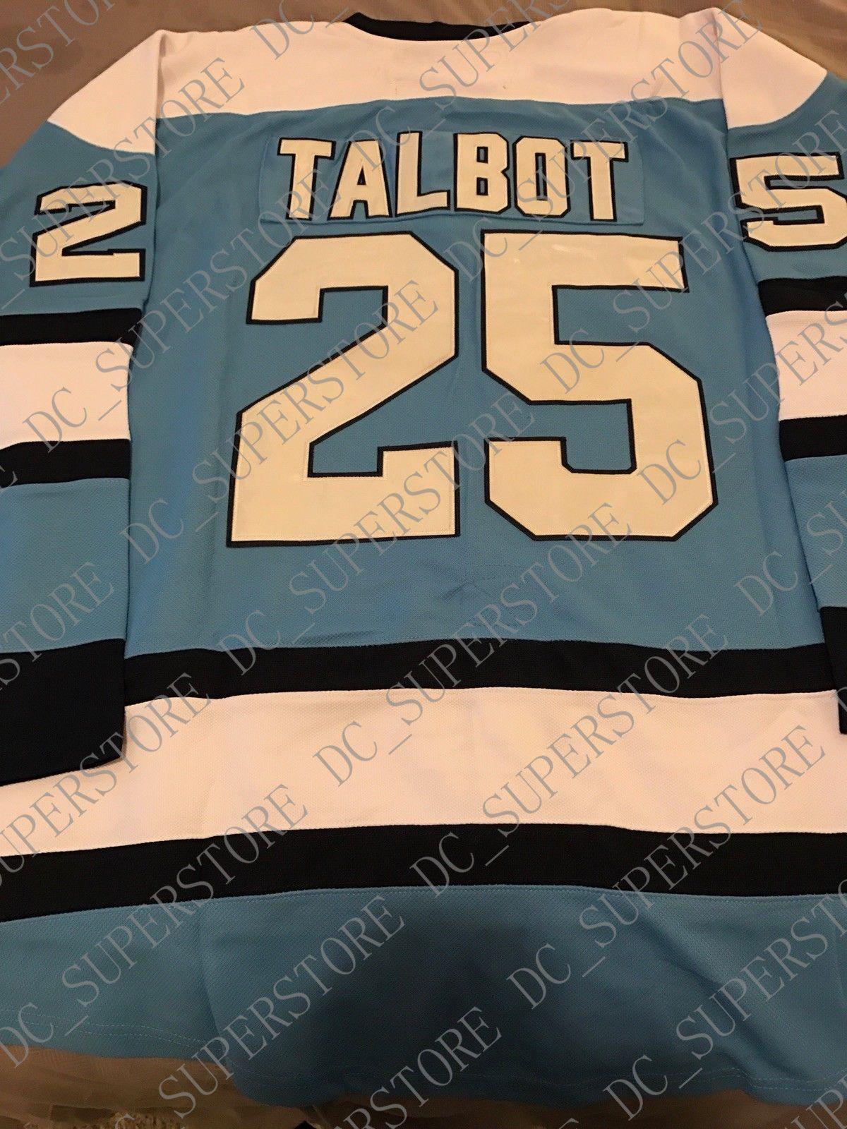 f0dc1240d4c Cheap Custom Max Talbot Hockey Jerseys Blue CCM Men s Fight Strap ...
