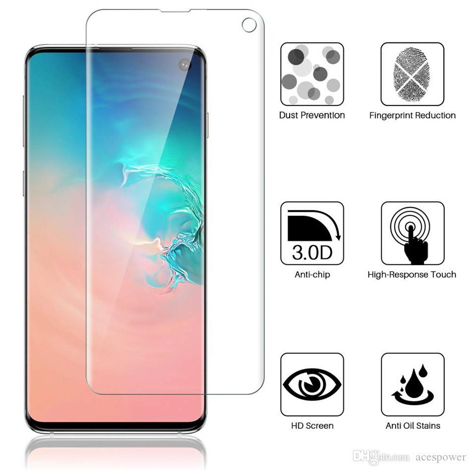 Für Samsung Galaxy S10 S10plus S20 S9 HINWEIS 9 10 PLUS VOLLSTÄNDE GEBOGENGEBEN HOCHSCHNISCHER KLIOSE Vorderbildschirmschutzschutzfolien Weiche TPU