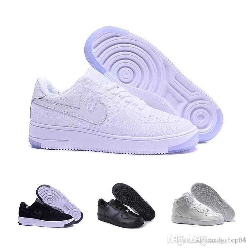 nike air force 1 Flyknit Utility 2018 Wholesale beiläufige Schuhe hohe Spitzenqualität neuer Mann modische hohe Spitzenweiße niedrige Spitzenschuhe