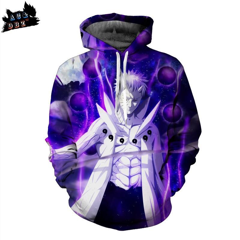 de44146cea2d 2019 2019 New AC DBZ Men S Shirt Anime Naruto Personality Children S Hooded  Sweatshirt Fairy Mode Purple Thin Hoodies
