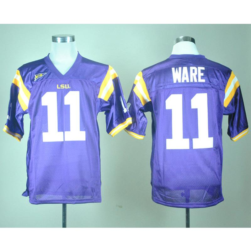 various colors bdf02 68117 Mens LSU Tigers Spencer Ware Stitched Name&Number American College Football  Jersey Size S-3XL