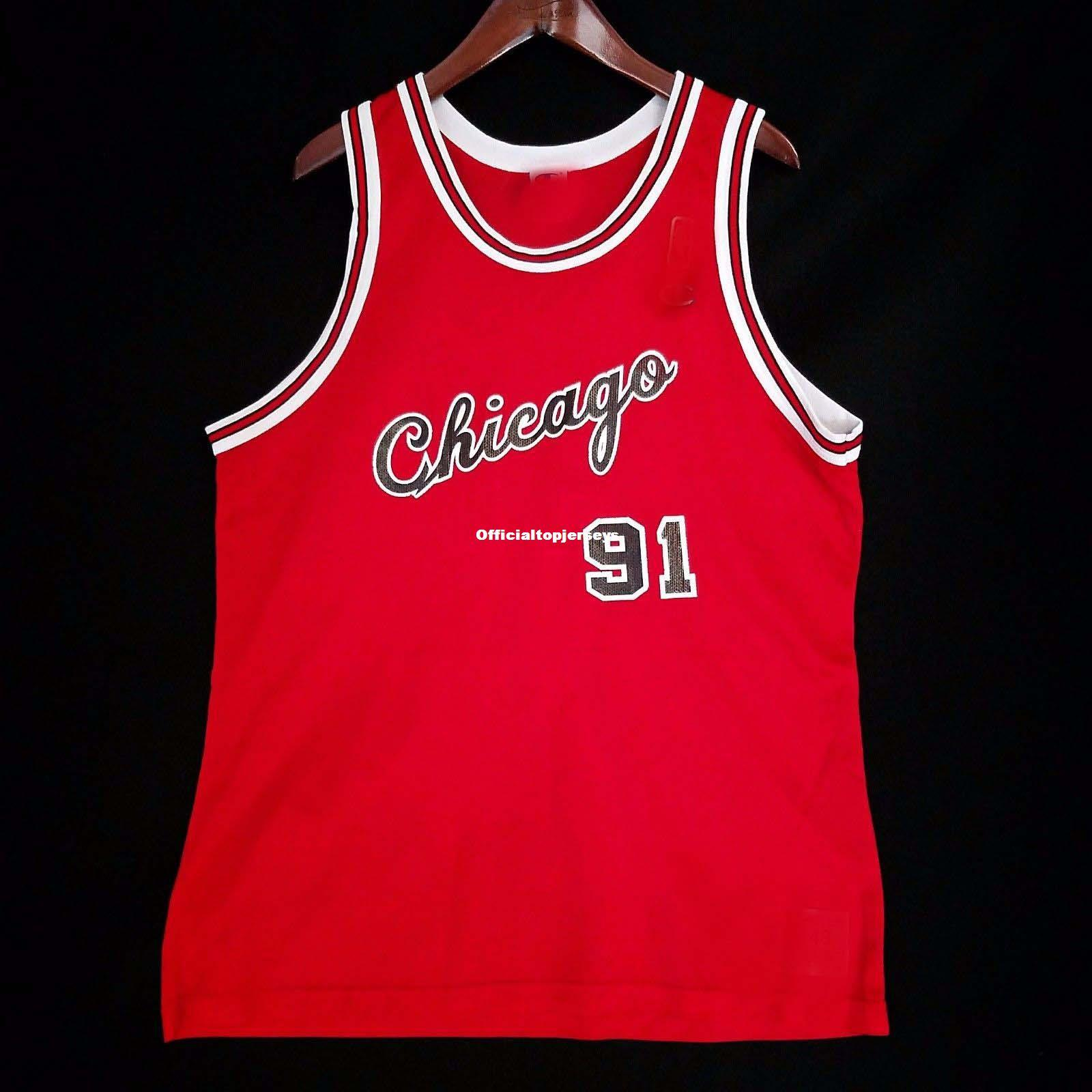 superior quality 6c545 520d5 Dennis Rodman #91 Champion Wholesale 50th Jersey Mens Vest Size XS-6XL  Stitched basketball Jerseys Ncaa
