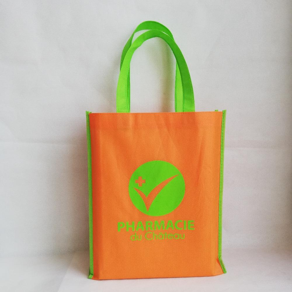 e4d831ec7 Reusable Custom Bag Non Woven Fabric With Different Colors Trim And Handle  Customized Logo Shopping Bags Eco Tote Bags Drawstring Bags Wholesale  Handbags ...