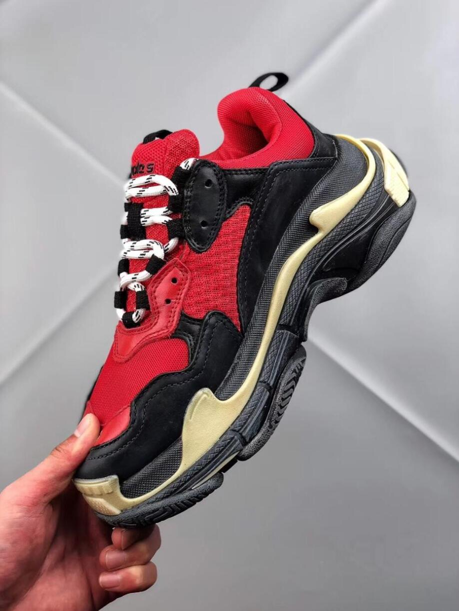 Nouveau 2018 Triple S Chaussures Hommes Femmes678732Low Lace up Cght Chaussures Outdoor Unisexe Zapatillas Sneakers, 36-44