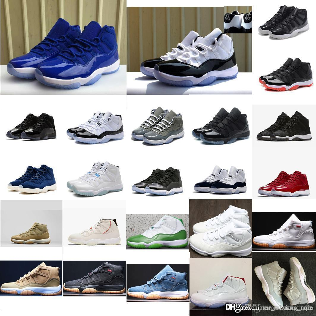 more photos cbbef 61db5 Retro Men 11s basketball shoes for sale high quality J11 Space Jam Velvet  Heiress Legend Blue Black Concords Jumpman 11 XI sneakers with box