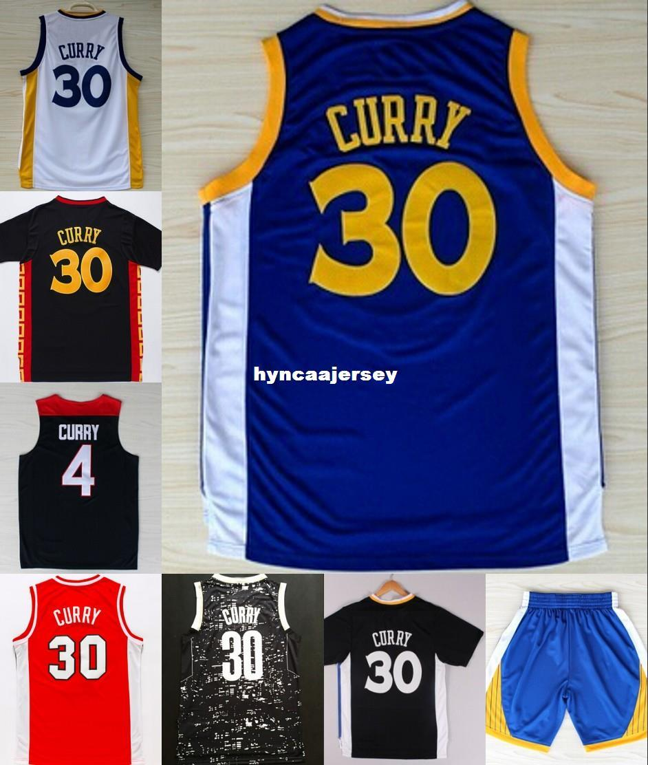 Cheap #30 steph SC jersey Black Blue White Red Color Basketball Jersey Embroidery Logos Ncaa