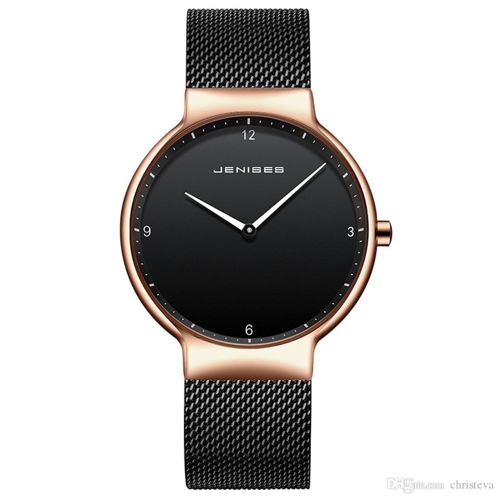 bb27f57bb720 Compre Reloj De Pareja Relojes Para Hombre Marca Top Jenises Reloj De  Pulsera De Cuarzo Para Hombres Y Mujeres Relojes Hombre Reloj De Malla De  Acero De ...