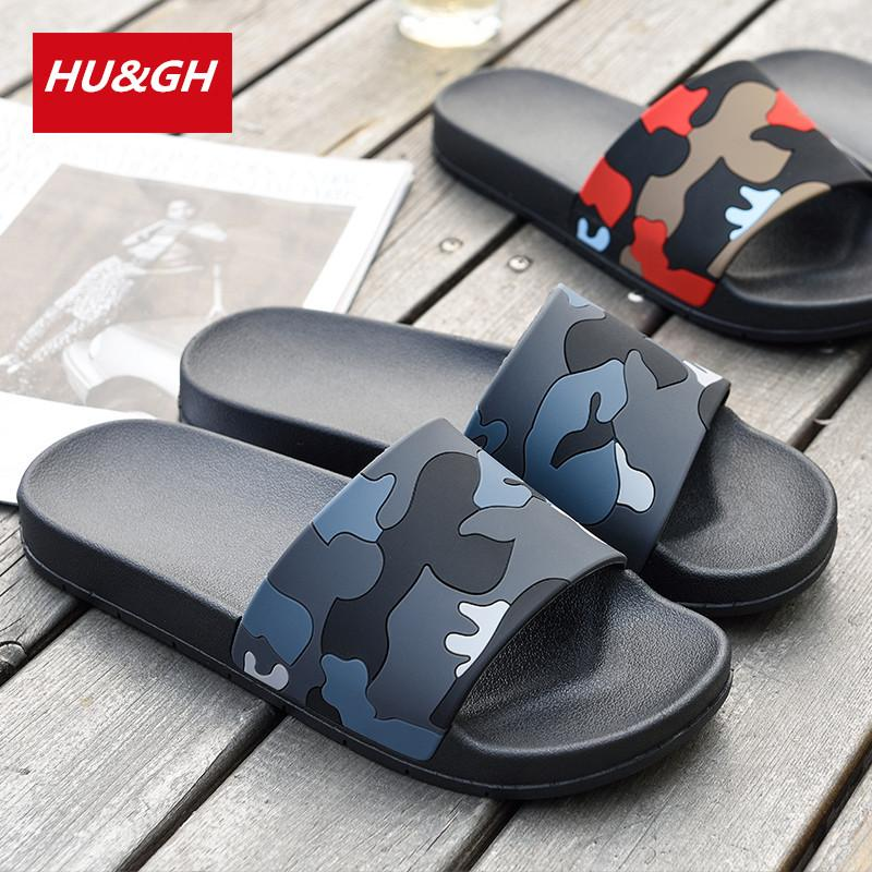 5d876879ee4a4 2019 New Summer Men s Camouflage Slippers Non-slip Bathroom Slippers Male  Comfortable Soft bottom indoor & outdoor Slides 40-45