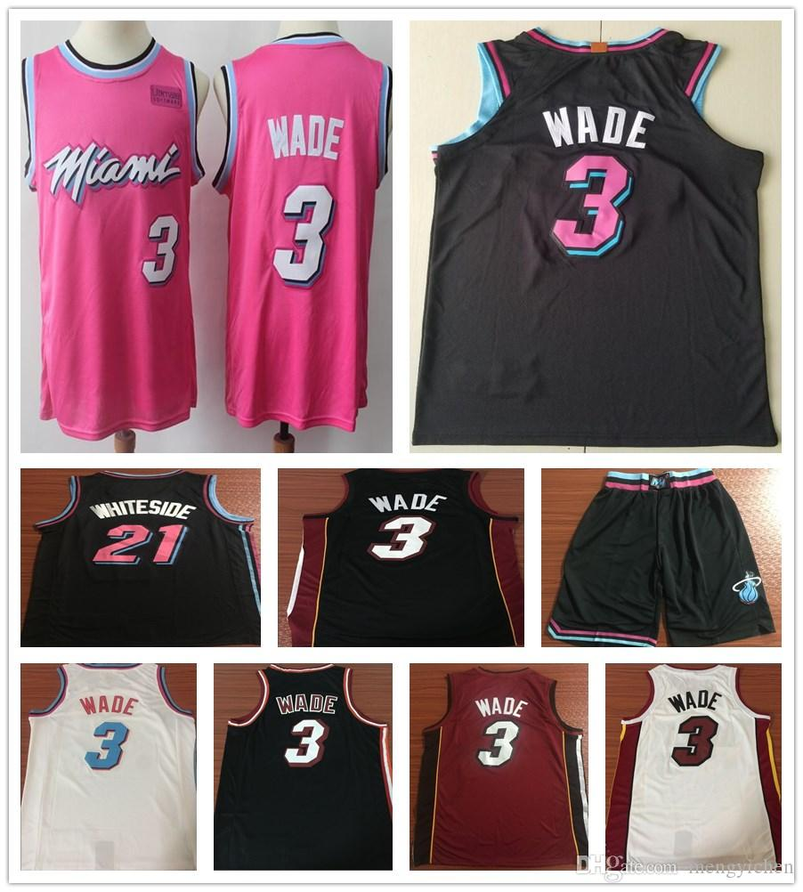 a438269dd9b where to buy 2019 earned edition pink 3 dwyane wade jerseys new city black  white red