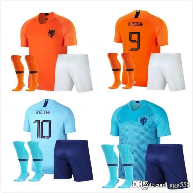 ca2be27dba4 2019 Adult Kit 2018 New Nederland Soccer Jersey 1819 Home Orange Netherlands  HOLLAND ROBBEN SNEIJDER V.Persie Dutch Away Football Shirts From Ggg558