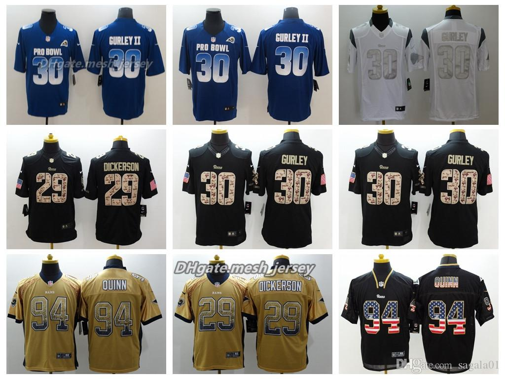 Men Los Angeles Jersey Rams 30 Todd Gurley II 29 Eric Dickerson 94 ... dbbcda1db