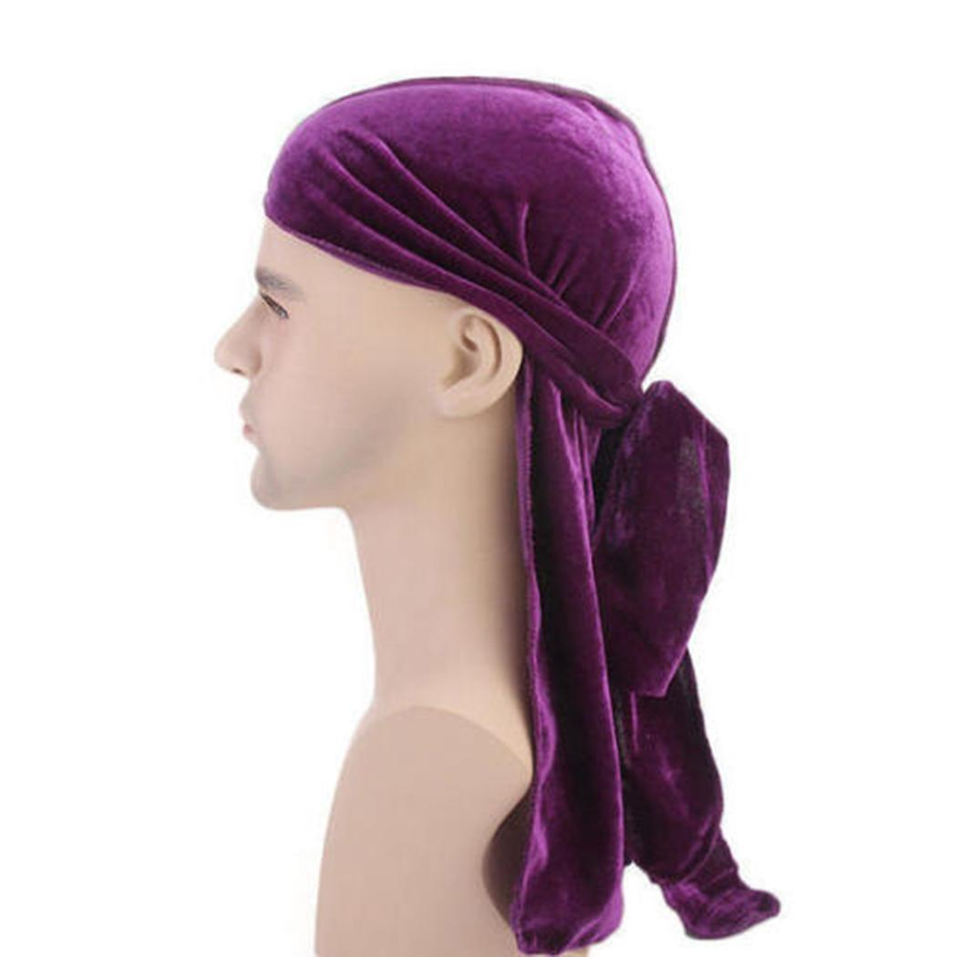 23451c68323ad Unisex Chemo Cap Velvet Bandana Winter Hats For Women Turban Caps Long  Pirate Hat Headscarf Headwrap Beanies Bonnet Femme Skullies   Beanies Cheap  Skullies ...