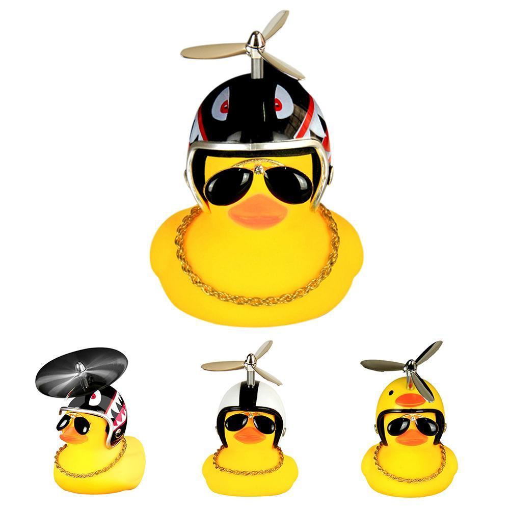 Lovely Helmet Duck Bicycle Motorcycle Safety Bike Ride Horn Alarm Helmet Shape Lamp Toy Bicycle Accessory Outdoor