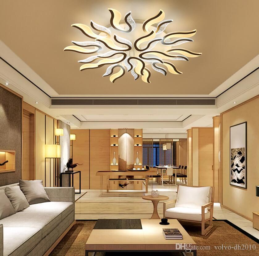 Acrylique moderne LED plafonniers pour salon chambre ultra-mince plafonnier  abat-jour décoratif Lamparas de techo AC90-265V
