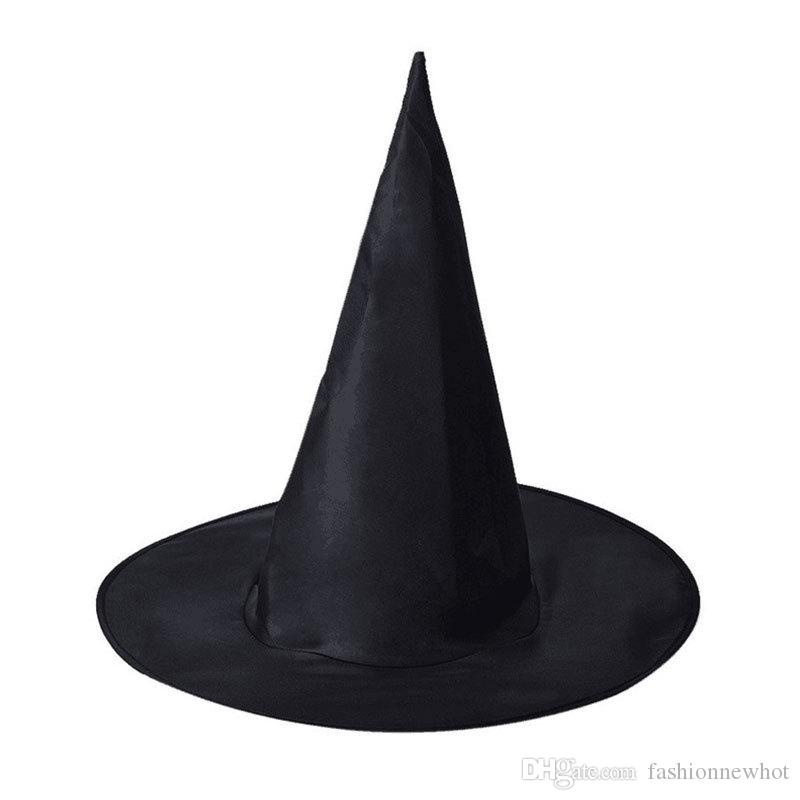 Black Witch Hats Halloween Costume Party Cap Cool Children Kids Adult Oxford Costume Accessories Props Cap Promotion Wholesale DHL