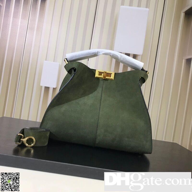 ea7ce1fa5b67 Luxury Fadi Brand Designer Bags Scrub Real Leather Peekaboo X Lite Fandi Luxury  Designer Purse Bags Fashion Tote Handbag Shoulder Bags Laptop Bags For Women  ...