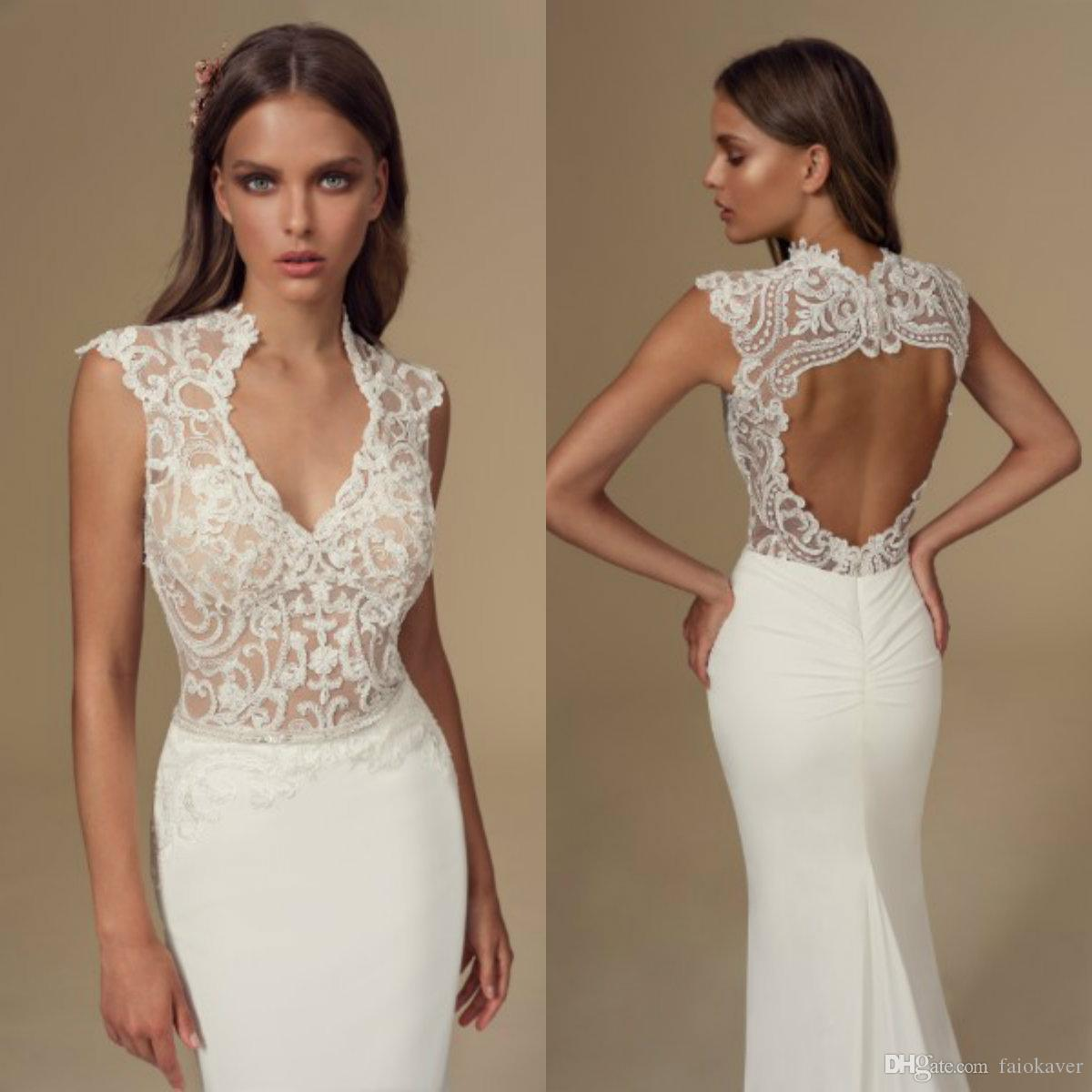 2020 Julie Vino High Collar Wedding Dresses Lace Appliqued Hollow Back Mermaid Wedding Dress Custom Made Country Style Bridal Gowns