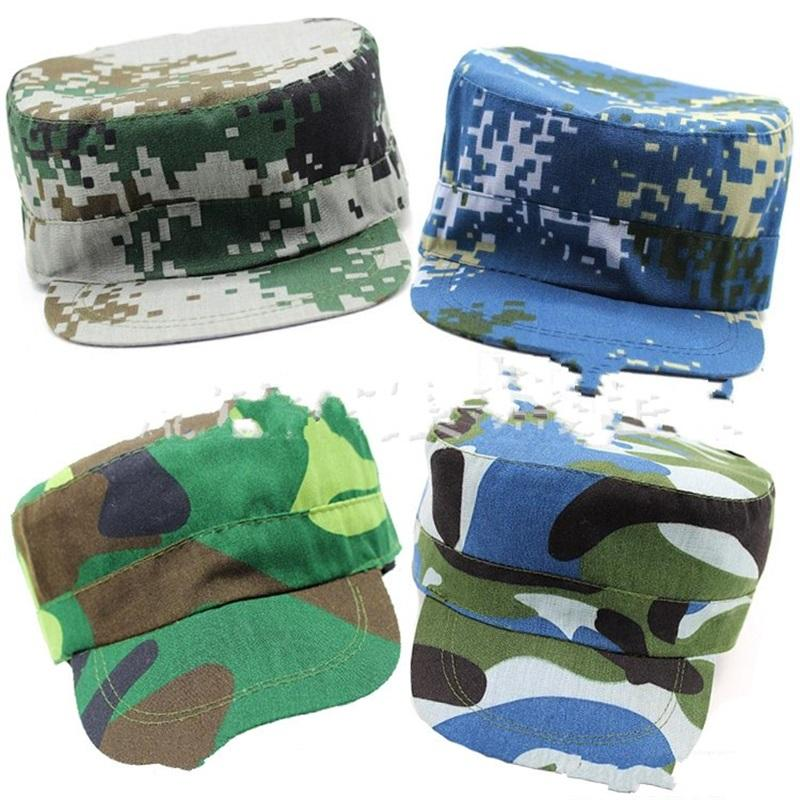 Camouflage Cap Medium Pupil Military Training Hat Motion Ocean Caps Plain Weave Ultra Thin Breathable Camping Factory Direct 3dcC1