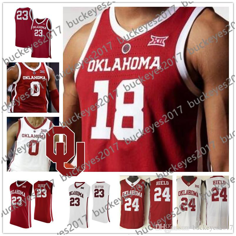 76fde91ca469 2019 Hot Sale Oklahoma Sooners NCAA College Basketball  11 Young 23 Griffin 24  Hield 4 Jamuni McNeace 2019 NEW Red White Jerseys S 4XL From Buckeyes2017