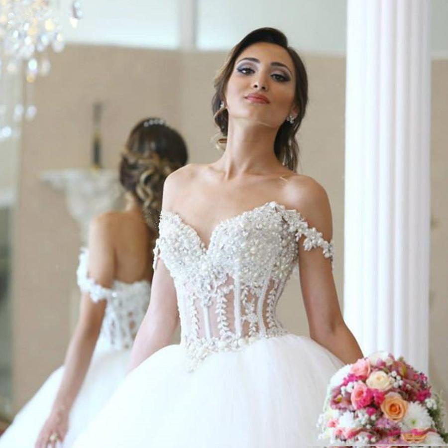 Simple Elegant 2015 Women Summer Wedding Dresses Flowing: Discount Elegant Off Shoulder A Line Wedding Dresses With