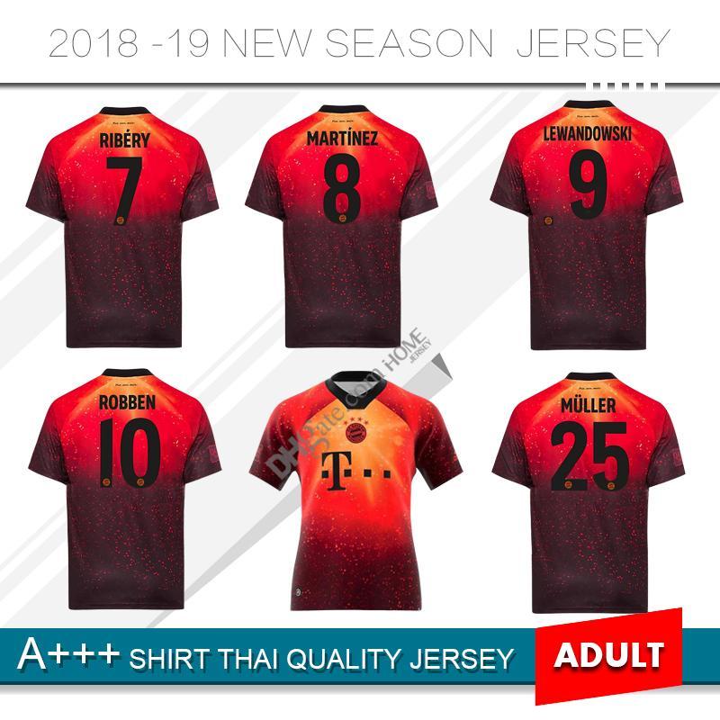 finest selection ab8dc 5121f New 2019 Limited Edition #25 MULLER Soccer Jersey 18/19 Soccer Shirt #9  LEWANDOWSKI Bayern Munich special version Football uniform