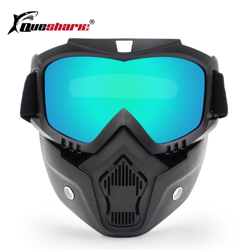 Acheter Queshark Hommes Femmes Ski Snowboard Motoneige Lunettes De Neige  Hiver Coupe Vent Ski Lunettes De Ski Lunettes De Soleil Motocross Avec  Masque De ... 895689254da6