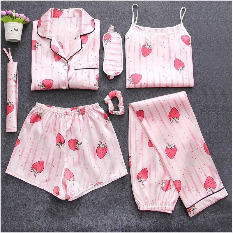 1a91db530 2019 Tops New Women Sleepwear Pyjama Set Autumn Winter Sexy Pajamas ...