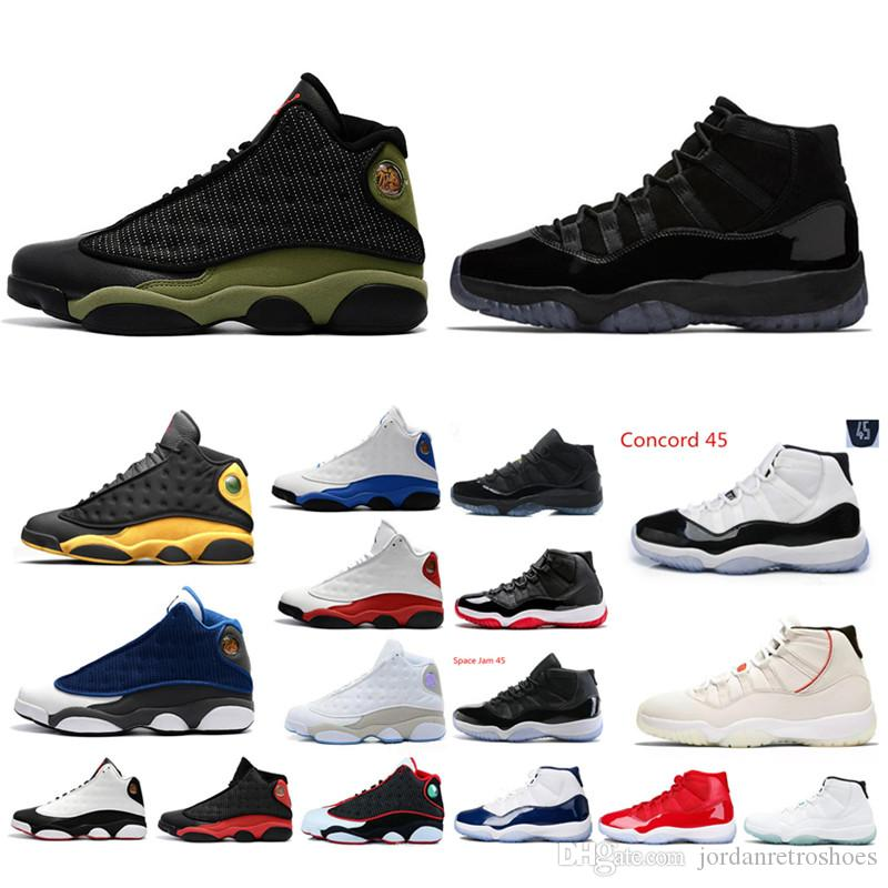 2d99acd06346 Concord 45 Platinum Tint Mens Basketball Shoes 11 11s Gamma Blue Men ...