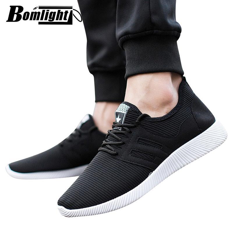 3c332184d17 Compre Bomlight Moda Hombre Zapatos Casual Hombre Zapatos Hombre Zapatillas  Hombre Zapatillas Mocasines Hombre Negro Azul Zapatillas Superstar Human  Race A ...