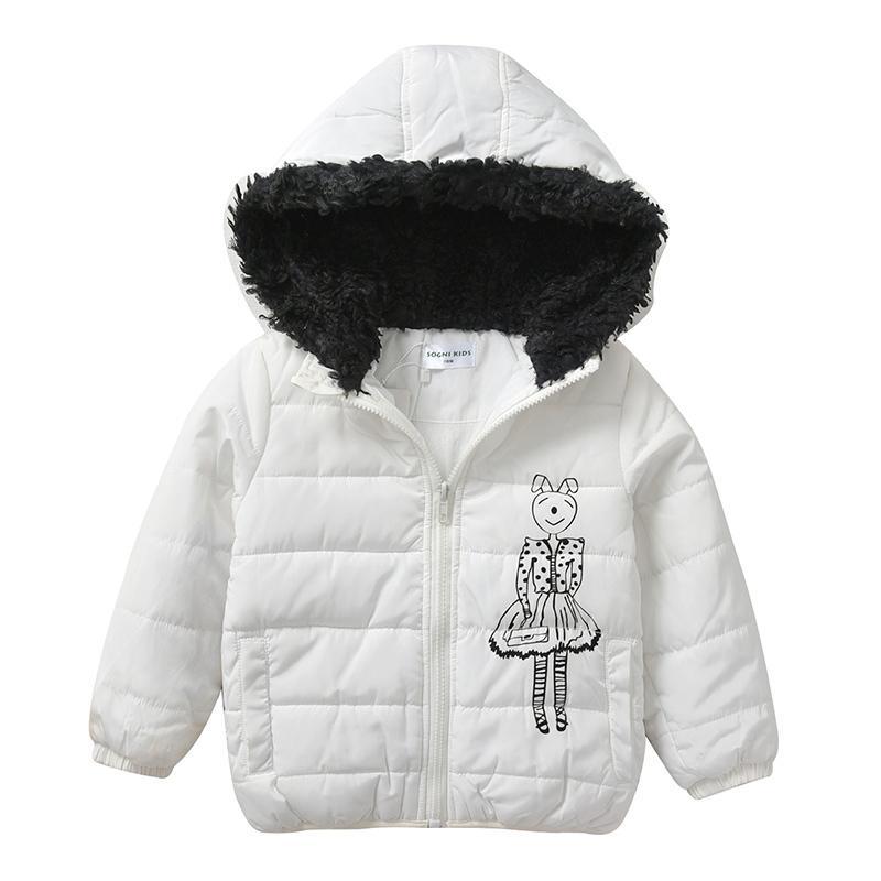 Mit Fell 10 Warme Casual Parka Für 6 Kinder Mädchen Wintermäntel Jacken Jahre Mantel 8 Kids Kapuze Große Oberbekleidung 12 Dicke Weiß 80Nmnwv