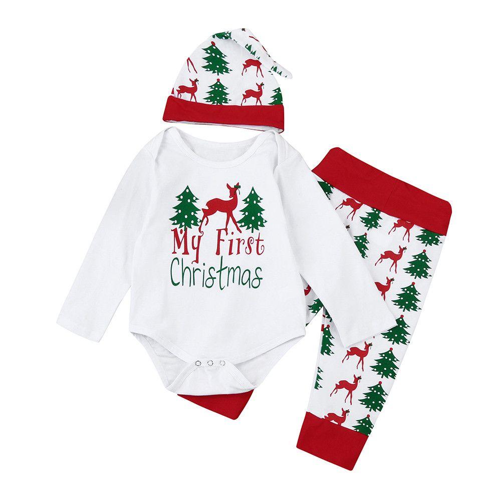 42e5f6c1c ARLONEET Christmas Baby Romper Newborn Baby Kids Girls Boys Outfits Clothes  Romper+Pants+Hat Set L1122 Clothing Sets Cheap Clothing Sets ARLONEET  Christmas ...