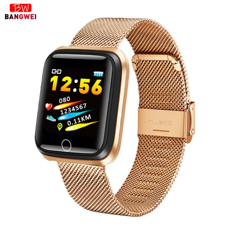 Bangwei neue smart watch männer frauen pulsmesser blutdruck fitness tracker smart watch sport relogio masculino