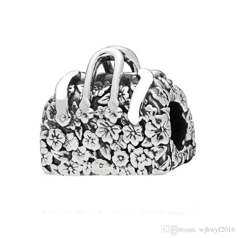 New Authentic 925 Sterling Silver Mary Poppins Bag Charm Beads Fit Original Pandora Charms Bracelet Jewelry Making