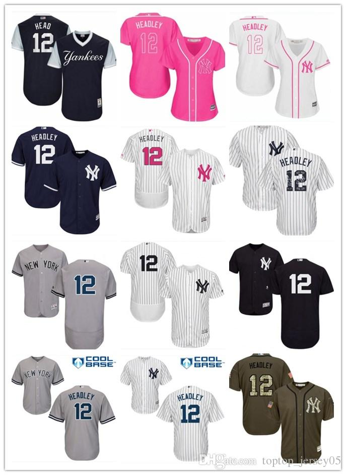 e3d7490e5 2018 top New York Yankees Jerseys  12 Chase Headley Jerseys men WOMEN YOUTH Men s  Baseball Jersey Majestic Stitched Professional sportswear