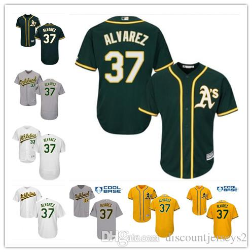 2019 top Athletics Jerseys #37 Alvarez Jerseys men#WOMEN#YOUTH#Men's Baseball Jersey Majestic Stitched Professional sportswear