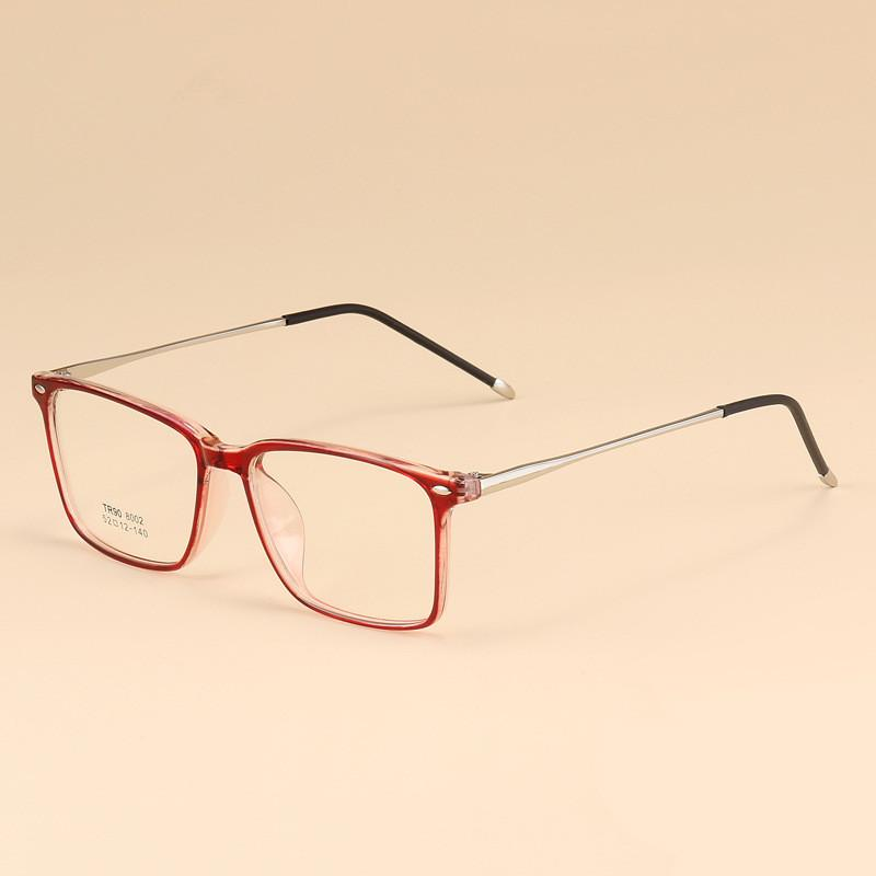 98c32addd60 Business Men Rectangle Spectacles Glasses Frame TR90 Comfort Myopia ...