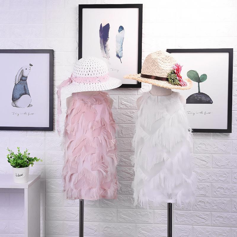 2019 New Summe r Item Girl Fashion Tassel Vest Two Colors boys t shirts clothing boy 3 d blank baby good geometric 3D cute t-shirt Tights