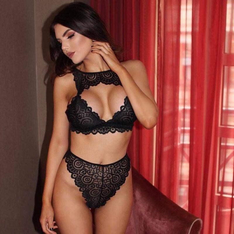 12467a06c0 Women Sexy Lingerie Bra Set Underwear Bra G-string Ladies Nightwear Lace  Hot Erotic SetsClothes Set Fashion New Sleepwear Bra   Brief Sets Cheap Bra    Brief ...