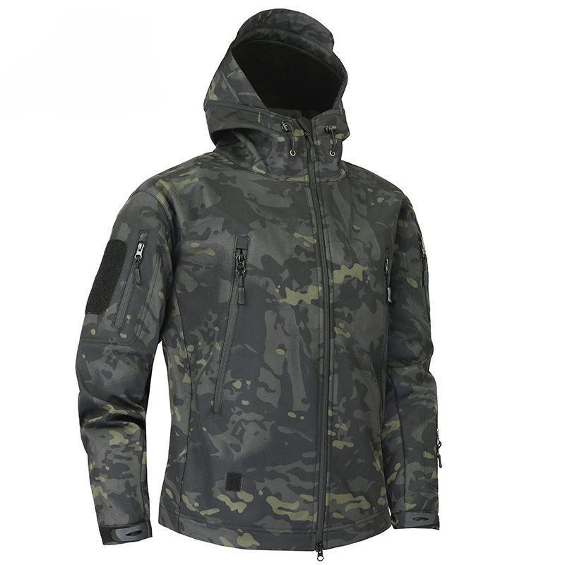 Shark Skin Soft Shell Military Tactical Jacket Men Waterproof Army Fleece Clothing Multicam Camouflage Windbreakers 4xl