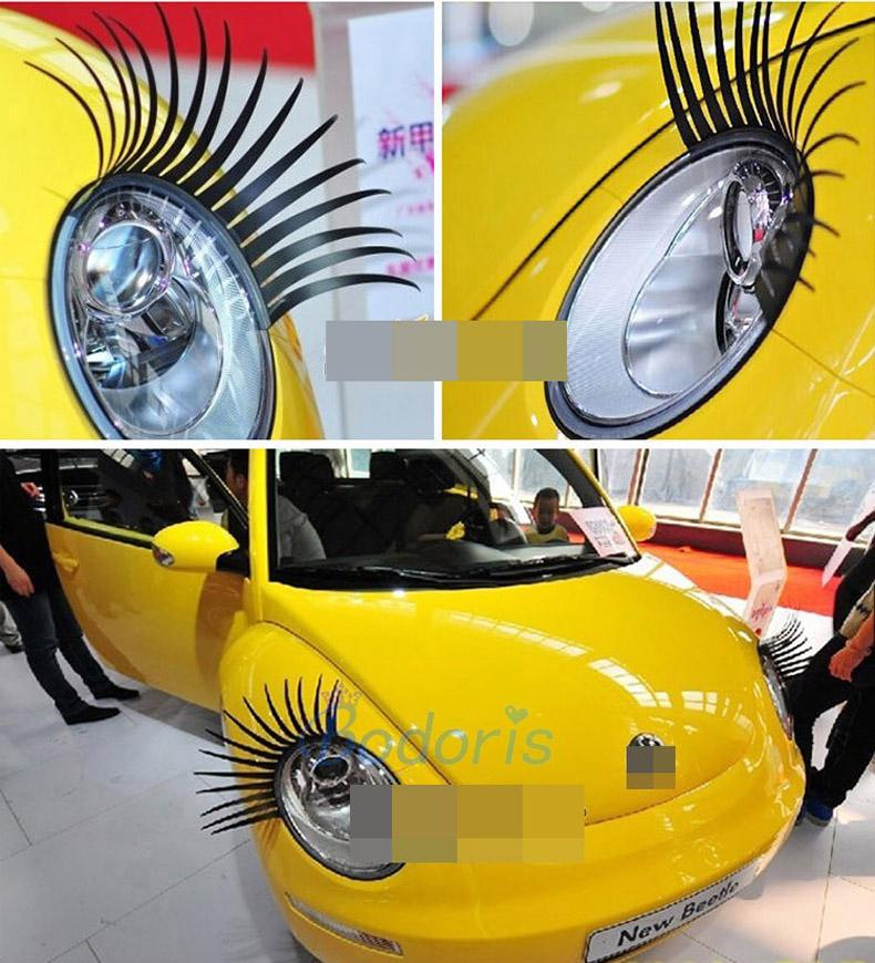 2019 Fashion Headlight Charming Black False Eyelashes Sticker Auto